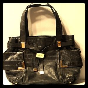 Amazing MICHAEL KORS 2004 Croco Leather Belted Bag